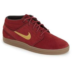 competitive price 4ceb2 9e277 Nike  SB Lunar Stefan Janoski Mid  Skate Shoe featuring polyvore, men s  fashion, men s shoes, men s sneakers, mens sneakers, mens lace up shoes,  nike mens ...