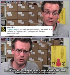 John Green is a Hufflepuff. I'm just saying, Hufflepuffs are awesome.