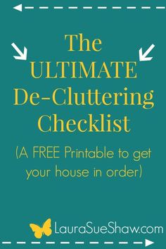 Free printable whole house decluttering checklist mom for Declutter house plan