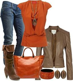 Love this color combination for fall.