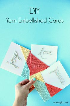 DIY Yarn Embellished