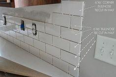 Kitchen Chronicles: A DIY Subway Tile Backsplash, Part 1   Jenna Sue Design Blog