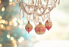 shabby chic Christmas, vintage ornaments