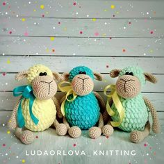 dolls by Kornilova Kseniya Crochet Sheep, Crochet Amigurumi, Crochet Teddy, Crochet Motif, Amigurumi Doll, Crochet Dolls, Crochet Toys Patterns, Amigurumi Patterns, Animal Crafts For Kids