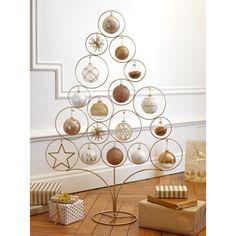 Sapin de Noël en métal doré H 95 cm | Maisons du Monde