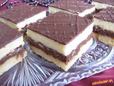 Balkánske rezy Slovak Recipes, Czech Recipes, Hungarian Recipes, Russian Recipes, Mexican Food Recipes, Bread Recipes, Baking Recipes, Ethnic Recipes, Chocolate Candy Cake