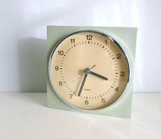 Mid Century Modern Wall Clock  Mint Green Sage by mungoandmidge, €135.00