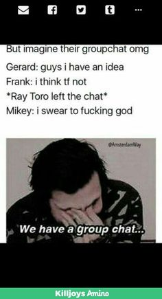 Looks like this was from the Killjoy Amino which is seriously such a great community!!  Also, their group chat must be incredible!!