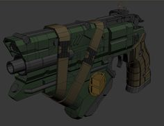 *WIP* Big and chunky Cabal hand cannon exploration. Perhaps a high ranking officers sidearm? Adam Moore, Hand Cannon, Fantasy Weapons, Destiny, Fan Art, Concept, Futuristic, Artwork, Science
