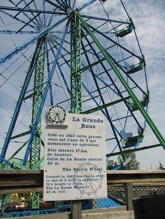1923 Ferris Wheel At Parc Safari by Aubin - Murphy Family, via Flickr