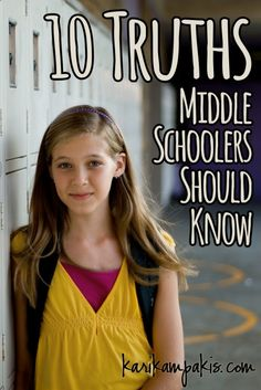 SO good. Prepare those middle schoolers for a tough season with these 10 awesome truths!