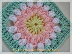 My Crochet , Mis Tejidos: Granny square ....and pattern !