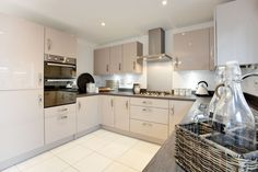 Bramble Chase - Bovis new homes and houses for sale at Honeybourne, Worcestershire - near Evesham, Stratford upon Avon, Chipping Campden Bovis Homes, Kitchen Layout, Favorite Kitchen, Home, Kitchen, Kitchen Diner, Dream Decor, New Homes, Kitchen Cabinets