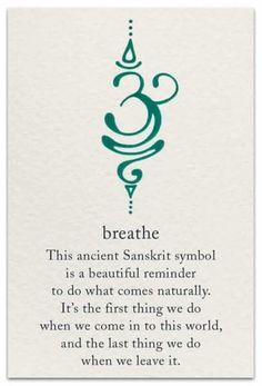 Breathe This Ancient Sanskrit Symbol Is a Beautiful Reminder to Do What Comes Na… Tattoo quates – Top Fashion Tattoos Simbolos Tattoo, Unalome Tattoo, Tatoo Henna, Body Art Tattoos, New Tattoos, Small Tattoos, Tatoos, Sanskrit Tattoo, Mantra Tattoo