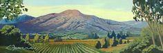 """Lynne Fearman """"Sierra Madre Valley"""" 4x12 Oil"""