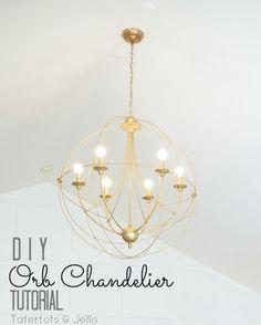 diy orb chandelier tutorial knock off