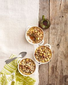 Pineapple, Ginger, and Walnut Oatmeal  - CountryLiving.com