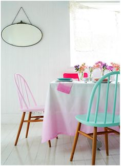 Love this chair treatment! Would be so cute for the girls!