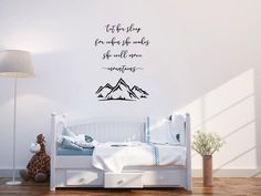 Let her sleep for when she wakes she will move mountains vinyl wall decal by AnnieMadeVinyl on Etsy