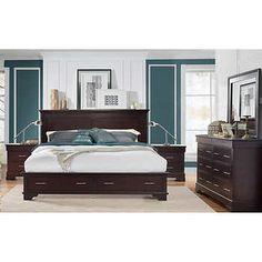 hudson 5piece queen storage bedroom set