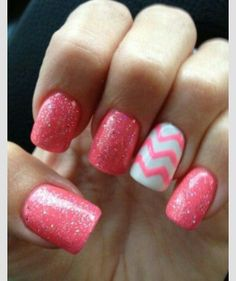 """""""Pink Frosting"""" colored Nails :)"""