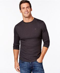 Michael Kors Micro-Striped Heather Gray Sweater Grey Sweater, Heather Grey, Michael Kors, Long Sleeve, Sleeves, Sweaters, Mens Tops, T Shirt, Gray