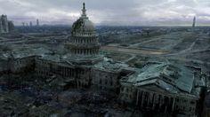 Jeux Vidéo Fallout 3  Capitol Post Apocalyptique Fallout Jeux Vidéo Fond d'écran