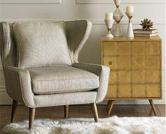 DwellStudio Franklin Side Cabinet Gold Leaf