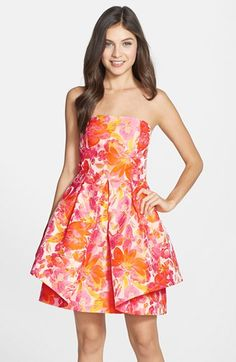 Trina+Turk+'Audrey'+Print+Fit+&+Flare+Dress+available+at+#Nordstrom