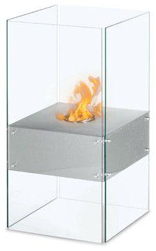 Cella Free Standing Floor Indoor Outdoor Ethanol Fireplace - modern - fireplaces - PureModern