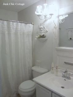 Junk Chic Cottage: Old Vintage Door Meets Bathroom Make Over