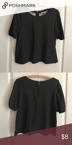 Forever 21 Circle Top Zip back. Wore once. In excellent condition. Size M Forever 21 Tops Blouses