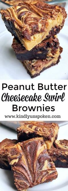 Featuring a simple fudge brownie box mix, swirls of decadent peanut butter and sweetened cream cheese mixture, these easy and delicious Peanut Butter Cheesecake Swirl Brownies will quickly become your new favorite dessert recipe to make! Fudge Brownies, Cheesecake Swirl Brownies, Beste Brownies, Cream Cheese Brownies, Boxed Brownies, Nutella Brownies, Peanut Butter Swirl Brownies, Peanut Butter Cheesecake, Peanut Butter Recipes