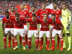 SL Benfica com a equipa mais jovem da Champions League 2016/17. Em cima: Salvio (26), Fejsa (28), Gonçalo Guedes (19), Victor Lindelof (22), Lisandro (27) e Ederson (23).                             Em baixo: Nélson Semedo (22), André Horta (19), Franco Cervi (22), Álex Grimaldo (20) e Pizzi (26).