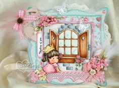 my little pieces of art: Little Princess and Romantic Window for Tic Tac Toe