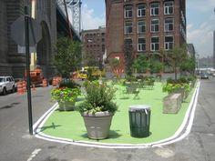 New York DOT pedestrian space