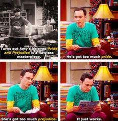 Pride & Prejudice according to Sheldon