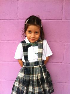 This is 6 year old Sarita, a pre kinder student at Young Living Academy!