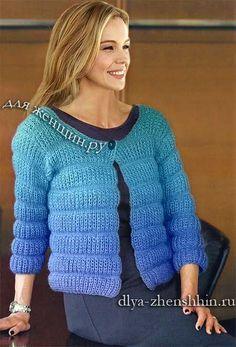 Вязание спицами жакета для женщин