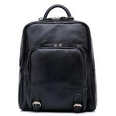 mochila color negro de Genuine cuero mujer o estudiante viaje [VL10043] - €71.02 : bzbolsos.com, comprar bolsos online