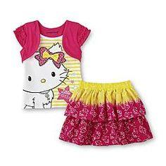 Sanrio Charmmykitty Infant & Toddler Girl's Layered-Look Top & Skirt