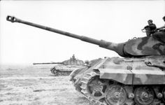 Tank photo. King Tiger tank with porsche turret of the schwere Panzer Abteilung 503. Tank number 322, Ohrdurf Germany