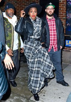 Lauryn Hill made a bold style statement as she appeared at the Late Show with David Letterman in New York on Thursday. Description from dailymail.co.uk. I searched for this on bing.com/images