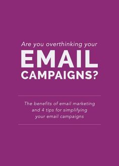 Are you overthinking your email campaigns? (Elle & Company) - Email List Marketing Tips - Ideas of Email List Marketing Tips - Email marketing. The sound or thought of that topic may not sound as appealing or exciting E-mail Marketing, Email Marketing Design, Email Marketing Campaign, Email Marketing Strategy, Email Design, Marketing Digital, Business Marketing, Internet Marketing, Social Media Marketing