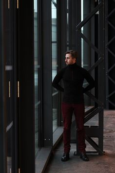 #Merino wool Sporty #Turtleneck photoshoot.  Click for more ITIS wool gear!