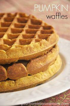 The perfect fall breakfast - Pumpkin Waffles