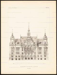 Titel   Konkurrenzentwürfe für ein Rathaus in Stuttgart, zusammengest. v. W…