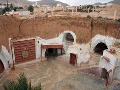Tunisia - Hotel Sidi Driss - Original film set of Luke Skywalker's Tatooine home