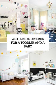 26 Delightful Shared Nurseries For A Baby And A Toddler - DigsDigs