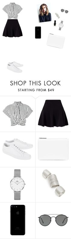 """Sans titre #3011"" by yesmine-bengharbia ❤ liked on Polyvore featuring T By Alexander Wang, Miss Selfridge, Common Projects, Maison Margiela, Daniel Wellington, Simon Miller, Ray-Ban and Barry M"